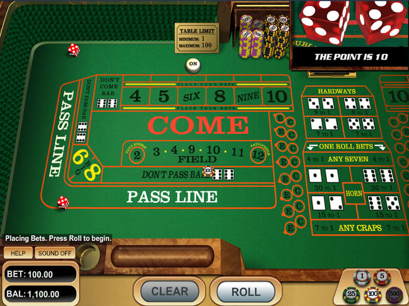 Play Craps Online For Fun